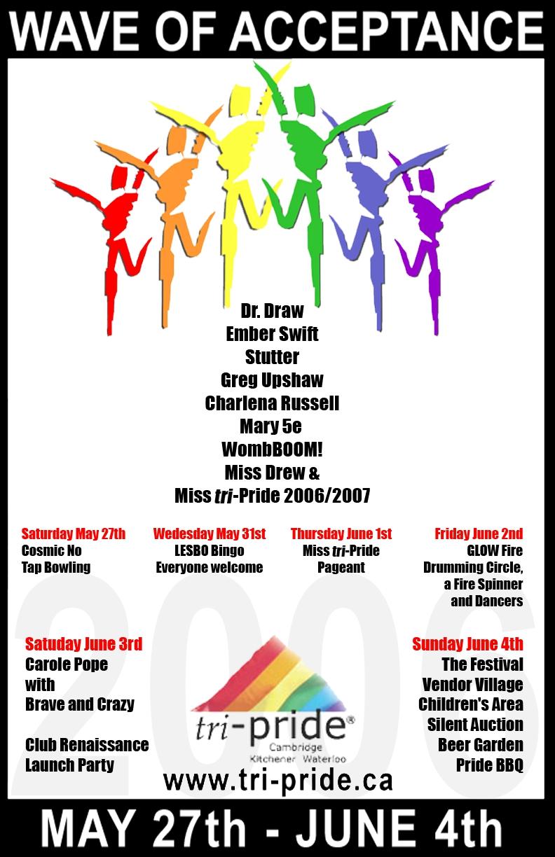 Grand River Rainbow Historical Project - tri-Pride Celebrations